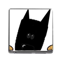 Peeping German Shepherd Bi Color  Memory Card Reader (Square)