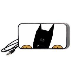 Peeping German Shepherd Bi Color  Portable Speaker (Black)