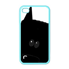 Peeping German Shepherd Bi Color  Apple iPhone 4 Case (Color)