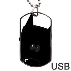 Peeping German Shepherd Bi Color  Dog Tag USB Flash (Two Sides)