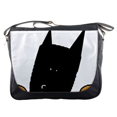 Peeping German Shepherd Bi Color  Messenger Bags