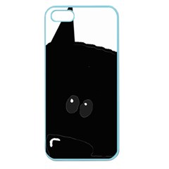 Peeping German Shepherd Bi Color  Apple Seamless iPhone 5 Case (Color)