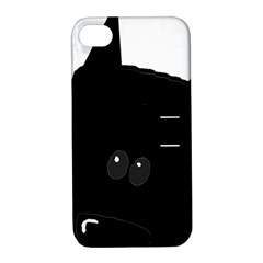 Peeping German Shepherd Bi Color  Apple iPhone 4/4S Hardshell Case with Stand