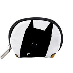 Peeping German Shepherd Bi Color  Accessory Pouches (Small)