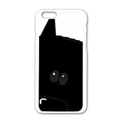 Peeping German Shepherd Bi Color  Apple iPhone 6/6S White Enamel Case