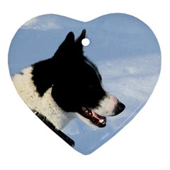 Karelian Bear Dog Heart Ornament (2 Sides)