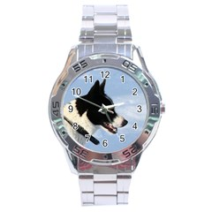 Karelian Bear Dog Stainless Steel Analogue Watch
