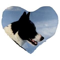 Karelian Bear Dog Large 19  Premium Heart Shape Cushions