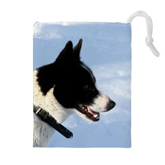 Karelian Bear Dog Drawstring Pouches (Extra Large)