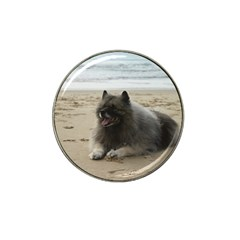 Keeshond On Beach  Hat Clip Ball Marker