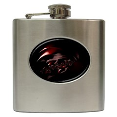 Fractal Mathematics Abstract Hip Flask (6 oz)