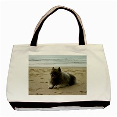 Keeshond On Beach  Basic Tote Bag (Two Sides)
