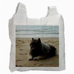 Keeshond On Beach  Recycle Bag (One Side)