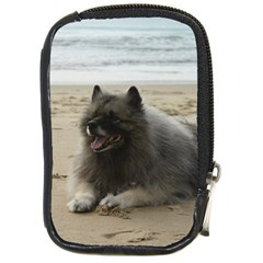 Keeshond On Beach  Compact Camera Cases