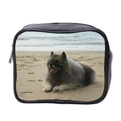 Keeshond On Beach  Mini Toiletries Bag 2-Side