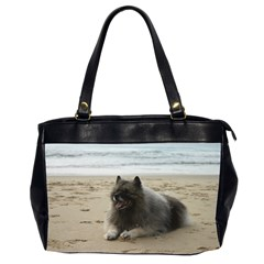 Keeshond On Beach  Office Handbags (2 Sides)