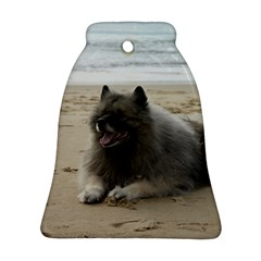 Keeshond On Beach  Bell Ornament (2 Sides)