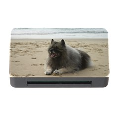 Keeshond On Beach  Memory Card Reader with CF