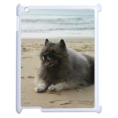 Keeshond On Beach  Apple iPad 2 Case (White)