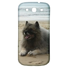 Keeshond On Beach  Samsung Galaxy S3 S III Classic Hardshell Back Case