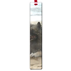 Keeshond On Beach  Large Book Marks