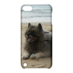 Keeshond On Beach  Apple iPod Touch 5 Hardshell Case with Stand