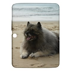Keeshond On Beach  Samsung Galaxy Tab 3 (10.1 ) P5200 Hardshell Case