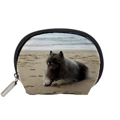 Keeshond On Beach  Accessory Pouches (Small)