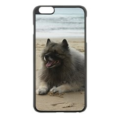 Keeshond On Beach  Apple iPhone 6 Plus/6S Plus Black Enamel Case