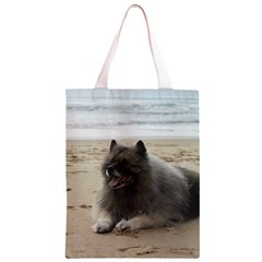 Keeshond On Beach  Classic Light Tote Bag