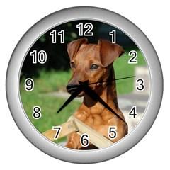 Min Pin On Gate  Wall Clocks (Silver)