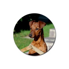 Min Pin On Gate  Rubber Round Coaster (4 pack)