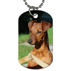 Min Pin On Gate  Dog Tag (Two Sides)