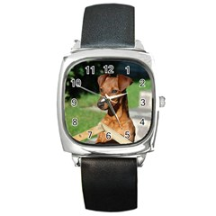Min Pin On Gate  Square Metal Watch