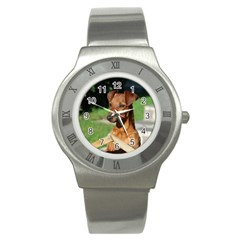 Min Pin On Gate  Stainless Steel Watch