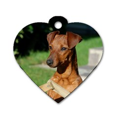 Min Pin On Gate  Dog Tag Heart (Two Sides)
