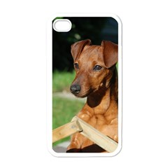 Min Pin On Gate  Apple iPhone 4 Case (White)
