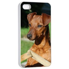 Min Pin On Gate  Apple iPhone 4/4s Seamless Case (White)