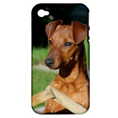 Min Pin On Gate  Apple iPhone 4/4S Hardshell Case (PC+Silicone)