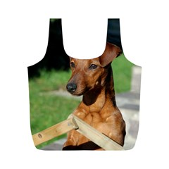 Min Pin On Gate  Full Print Recycle Bags (M)