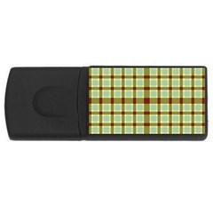 Geometric Tartan Pattern Square USB Flash Drive Rectangular (1 GB)