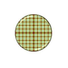 Geometric Tartan Pattern Square Hat Clip Ball Marker