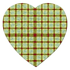 Geometric Tartan Pattern Square Jigsaw Puzzle (Heart)