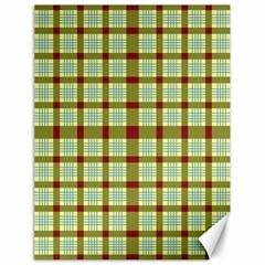 Geometric Tartan Pattern Square Canvas 18  x 24