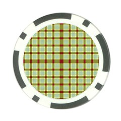 Geometric Tartan Pattern Square Poker Chip Card Guards