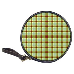 Geometric Tartan Pattern Square Classic 20-CD Wallets