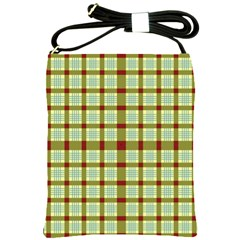 Geometric Tartan Pattern Square Shoulder Sling Bags