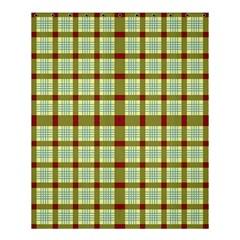 Geometric Tartan Pattern Square Shower Curtain 60  x 72  (Medium)