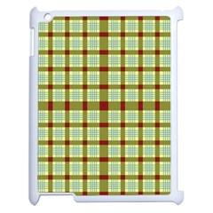 Geometric Tartan Pattern Square Apple iPad 2 Case (White)