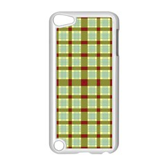Geometric Tartan Pattern Square Apple iPod Touch 5 Case (White)